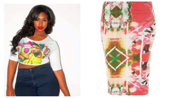 "Crop Top Evans ""Cut"" Pencil Skirt - U.Si Size 28"