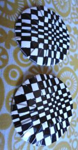 Vintage Checkered Earrings
