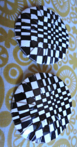 Vintage Checkered Earrings