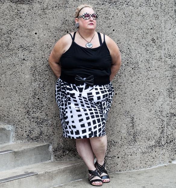 Eyeglasses           Pendant Cami          Belt Skirt           Gladiator Sandals
