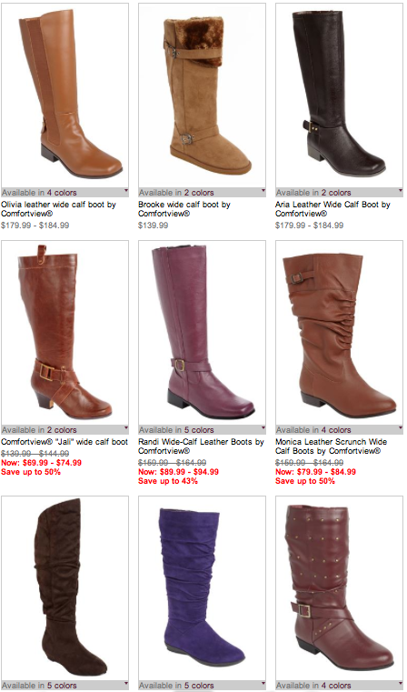Jessica London Comfortview Extra Wide Calf Boots