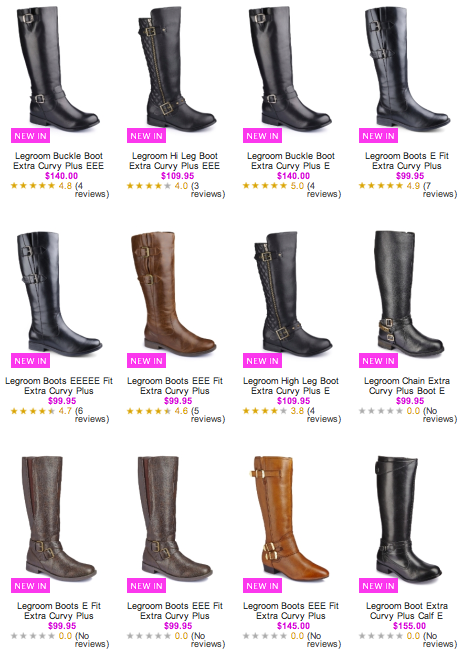 21 Different Pairs of Extra Curvy Plus Wide Calf Boots at Simply Be